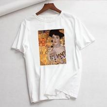 New Gustav Klimt Fashion Ladies Tshirt Summer New Women ulzzang Harajuku Art Oil