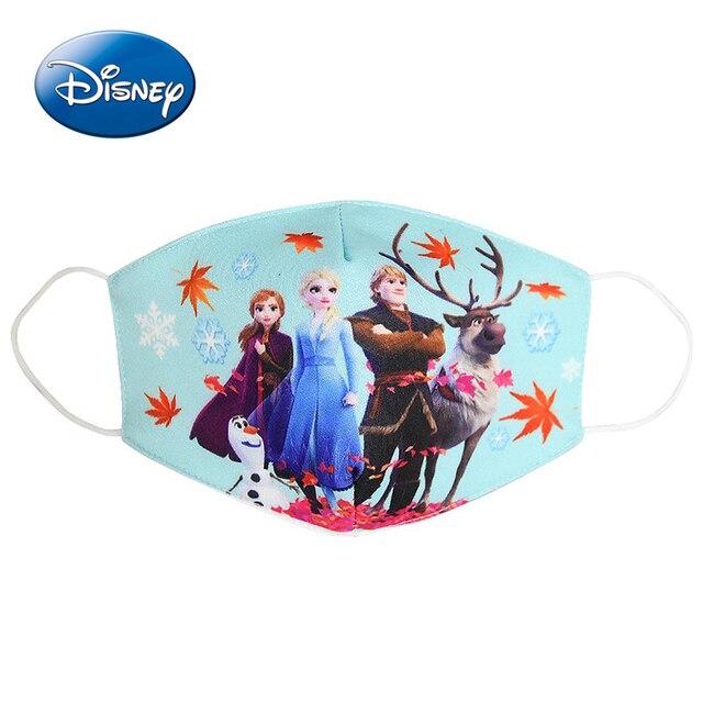 Frozen Elsa Kids Mask Cotton Daily Protection Pm2.5 Anti-haze Dust-proof Washable Cartoon Boys Girls Disney Children Masks 4
