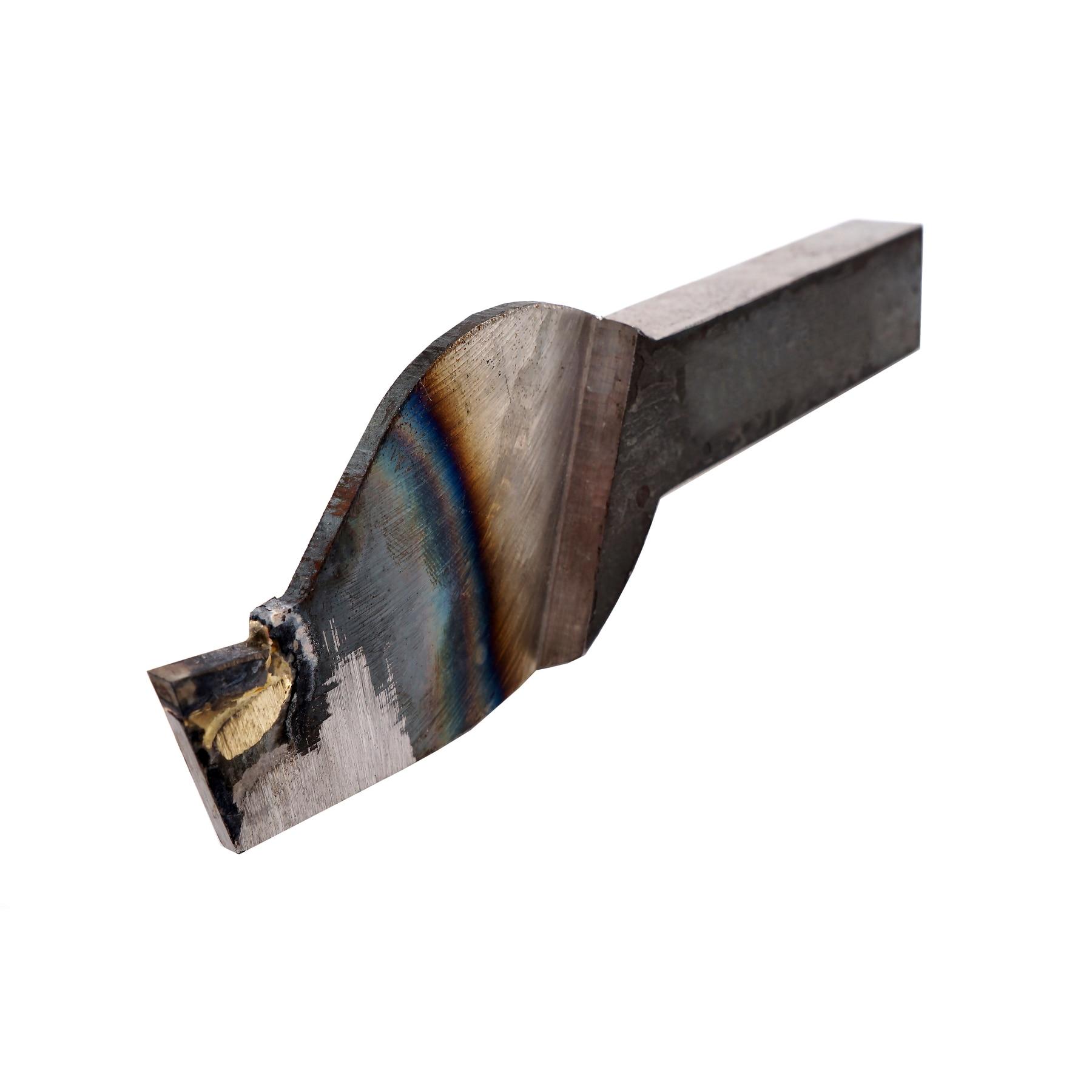 Резец отрезной обратный (Петушковый) 25*16 мм. с напайкой пластины из твердого сплава P10 P30 K20