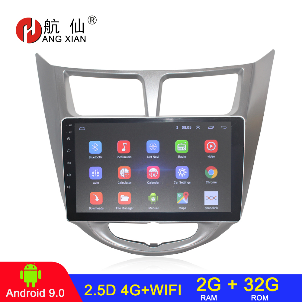 2G+32G Android 9.1 DSP IPS 2 din <font><b>car</b></font> radio <font><b>car</b></font> stereo For Hyundai Solaris Accent Verna i25 2011 <font><b>car</b></font> <font><b>audio</b></font> <font><b>Video</b></font> player image
