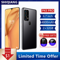 Global Version SOYES P43 Pro Android10.0 Mobile Phone 4800mAh 2+32GB Smartphones 2 Sim Card 6.7Inch Cell Phones 6 Core Telephone