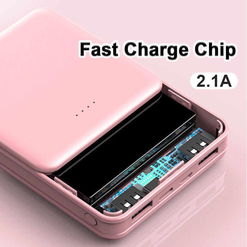 30000 5200mahパワーバンクミニポータブル平方バッテリーインジケータライト電話急速充電器屋外旅行powerbankスマートフォン用