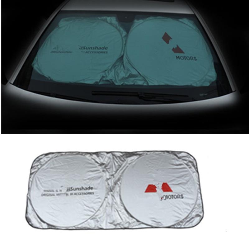 Cubierta para parabrisas de coche para MITSUBISHI PAJERO OUTLANDER EX ASX phee EV ventana sombrilla protección UV accesorios para automóviles Cubierta de la Lente de la luz de lectura de la lámpara de la cúpula trasera del coche de LARBLL MR250712 para Mitsubishi Lancer Outlander EX ASX Pajero V73 v77