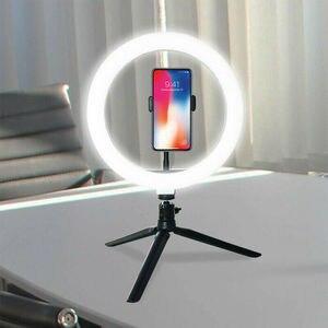 Новинка, светодиодный кольцевой светильник для студийной камеры 10 дюймов, 26 см, большой/маленький, с регулируемой яркостью, светильник для т...