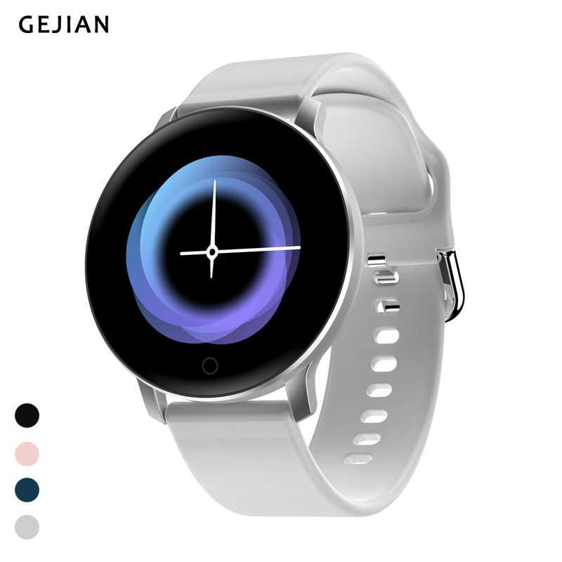 GEJIAN กีฬาสมาร์ทนาฬิกาผู้ชายอัตโนมัติเครื่องวัดความดันโลหิต Ultra-light กันน้ำผู้หญิงนาฬิกาฟิตเนส