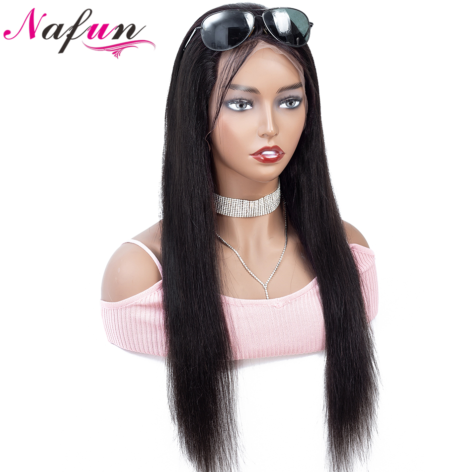 28 30 Inch 13x4 Lace Front Human Hair Wigs Peruvian Straight Lace Front Wigs For Women Non-Remy 150% Density Swiss Lace Wig