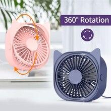 360 rotação usb ventilador de refrigeração mini ventilador mute cooler para escritório fresco ventiladores do carro casa notebook portátil pessoal ventilador de refrigeração portátil
