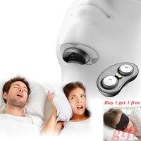Smart snore stopper anti snore ronco solution app와 sleep apnea monitor가있는 편안한 안티 코 고는 바이오 센서 cpap replacer