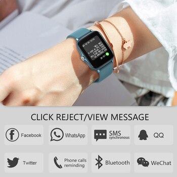 LEMFO Smart Watch Y20 2021 Men Women 1.69 inch Full Touch Screen Fitness Tracker IP67 Waterproof GTS 2 2e Smartwatch pk P8 Plus 5