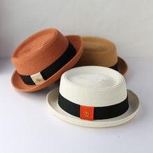 2021 homens verão rafia palha chapéu de sol pai boater fedora chapéus masculinos plana torta de porco praia chapéu senhora panamá boné