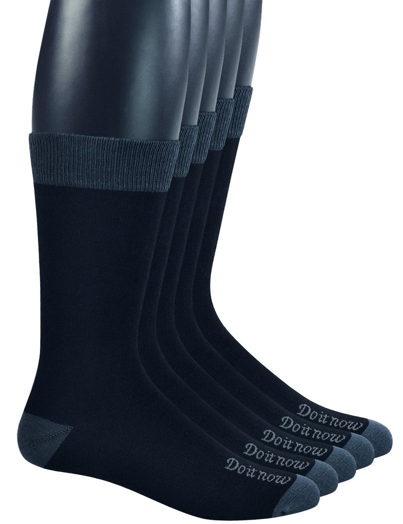 Мужские бамбуковые дышащие короткие носки Yomandamor с бесшовным носком, 5 пар, размер L (размер носков: 10-13)