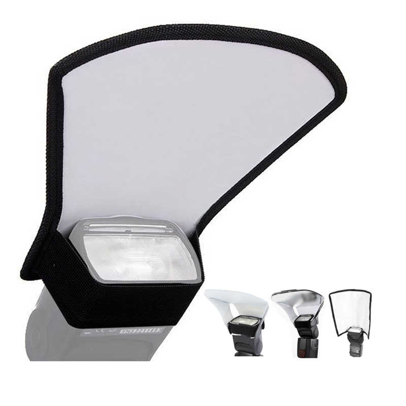 Diffuseur Flash pour appareil Photo 3 en 1 Flash Softbox réflecteur de lumière Photo Double face pour appareils Photo Canon pliable Speedlite difusor flash