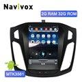 Navivox 2 Din Автомобильный dvd-плеер на основе Android gps Navi для Ford Focus 2012-2017 Зеркало Ссылка Bluetooth Tesla стиль большой экран автомобиля радио