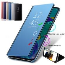 цена на Full Mirror leather Cases Smart Flip Case For Huawei P20 P30 Lite Pro  Flip Standing Phone Case For Huawei P20 Lite P20 Pro P30