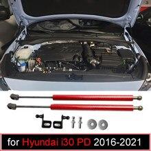 Modificar suportes de gás para hyundai i30 pd 2016-2021 para hyundai elantra gt capô dianteiro elevador suporte fibra de carbono amortecedor de choque
