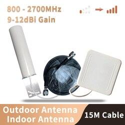 800-2700 MHz 4G 3G 2G Anten Kích Sóng Điện Thoại Repeater Bộ Khuếch Đại LTE CDMA GSM DCS N Nữ Trong Nhà Và Ngoài Trời Ăng Ten Bộ