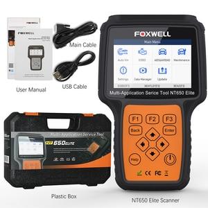 Image 5 - Foxwell NT650 엘리트 OBD2 자동차 진단 도구 엔진 ABS SRS 에어백 20 재설정 기능 자동 스캐너 Automotivo OBD 2 코드 리더