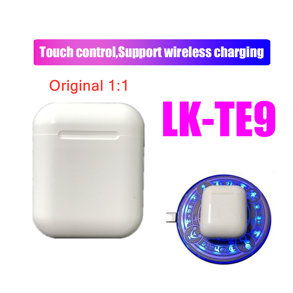 Original LK-TE9 1:1 Wireless <font><b>Bluetooth</b></font> <font><b>5.0</b></font> Super Stereo Bass Earbuds for iphone Android phone PK i14 I12 I10 <font><b>I11</b></font> <font><b>Tws</b></font> lk-te8 image