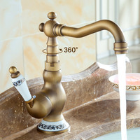 Bathroom Faucets Antique Bronze Faucet for Kitchen Mixer Tap With Ceramic Crane Cold And Hot Sink Tap Water Mixers