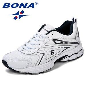 Image 1 - BONA/мужская повседневная обувь; Брендовая мужская обувь; Мужские кроссовки на плоской подошве; Удобная дышащая обувь из микрофибры для отдыха; Трендовый стиль ПРОМО КОД: 250VIP