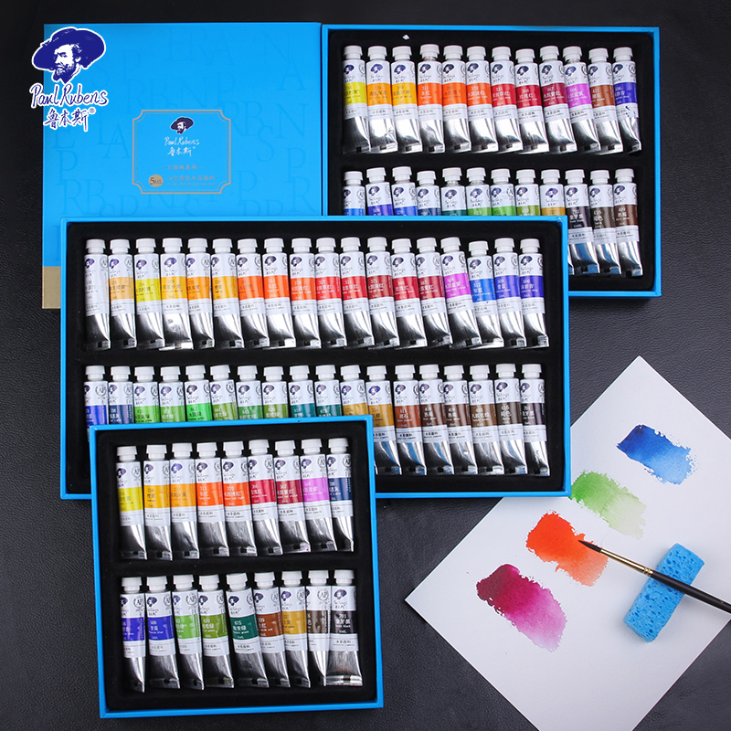Paul Rubens 5ml Watercolor Paints Tube Set Water Color Paint Pigment Aquarel Verf For Beginner Drawing  Art Supplies Stationery