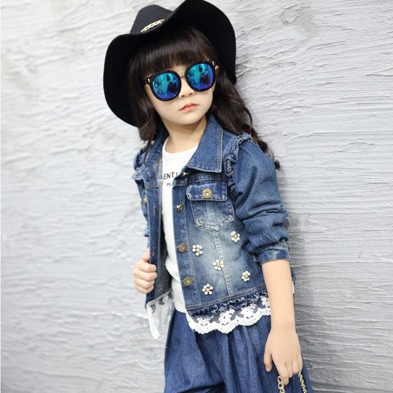 Dollplus New Style Denim Jacket For Girls Children Clothing Spring Autumn Girls Jackets Jeans Coat Children Fashion Outwear Wear