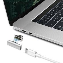 Magnetische USB C Adapter, 20Pins Typ C Stecker, USB PD 100W Quick Charge, 10Gbp/s daten für MacBook Pro/Air und Mehr Typ C Gerät