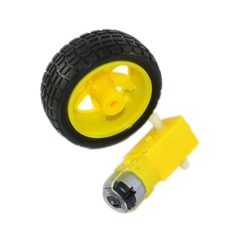 Dc 3v-6v engrenagem tt motor + pneu