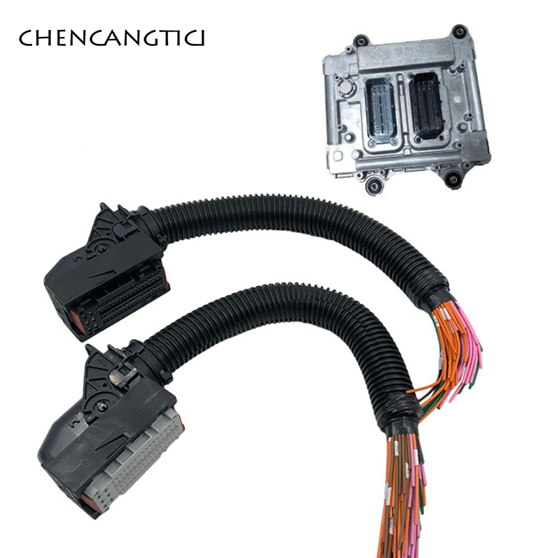 1 Набор 76 pin way компьютерная плата ecu разъем с кабелем жгута