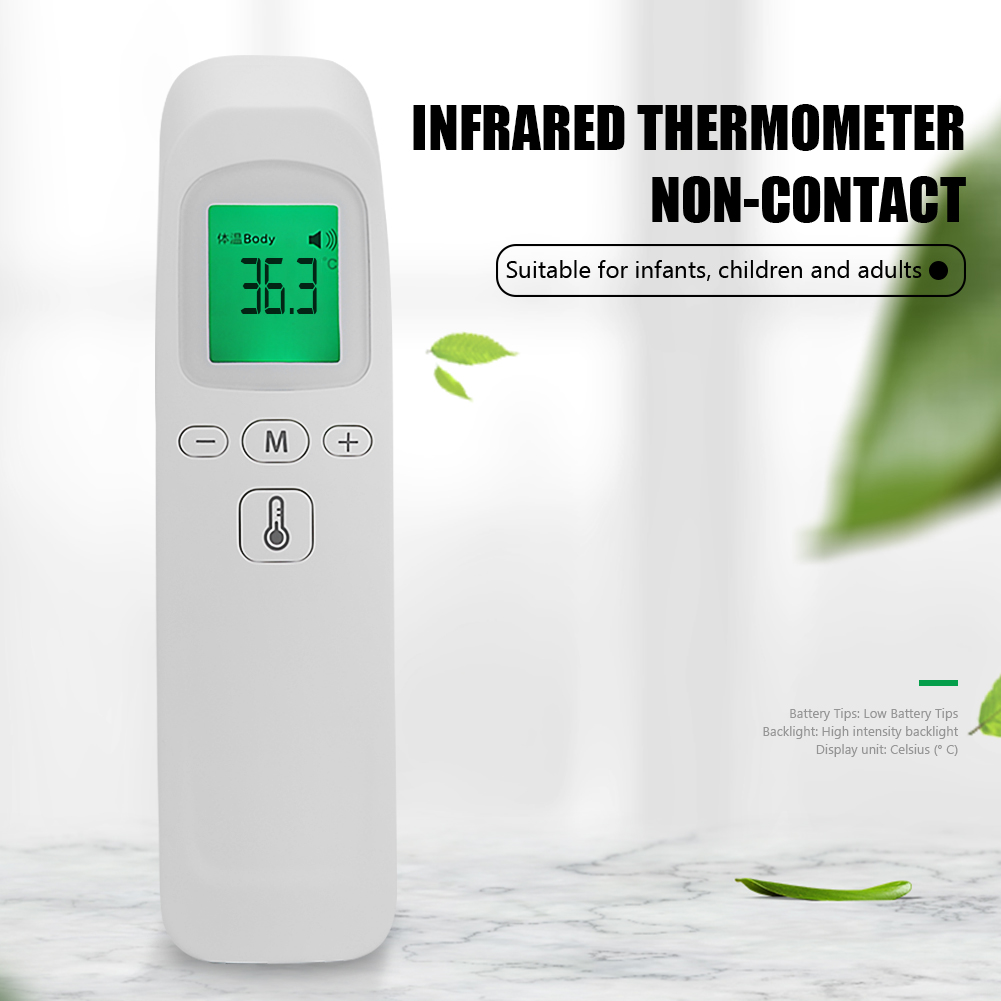 ZS-T1 Non-contact IR Infrared Adult Baby Body Thermometer Portable Digital LCD Forehead Ear Temperature Measurement Tool Gun