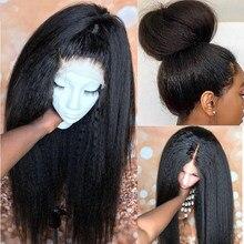 Beaudiva – perruque Lace Front Wig naturelle, cheveux crépus lisses Remy, 4x4, 13x4, pre-plucked, pour femmes noires