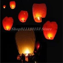 Lanternes volantes en papier ciel chinois, 50 pièces/lot, lampes bougies volantes, décoration de fête de noël, mariage, anniversaire, Diy