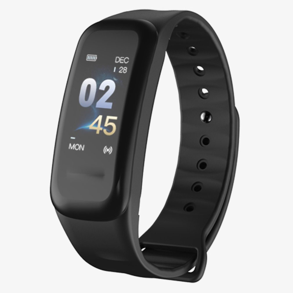 Multifunctional C1plus Color Screen Smart Bracelet Heart Rate Monitoring Step Counter Anti-watercolor Screen Sports Bracelet