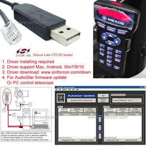 Image 1 - Meade ETX 90 ETX 125 LXD75 LX80 LX90 Meade 497 AutoStar Meade AudioStar keypad to a PC serial cable Meade 505 cable