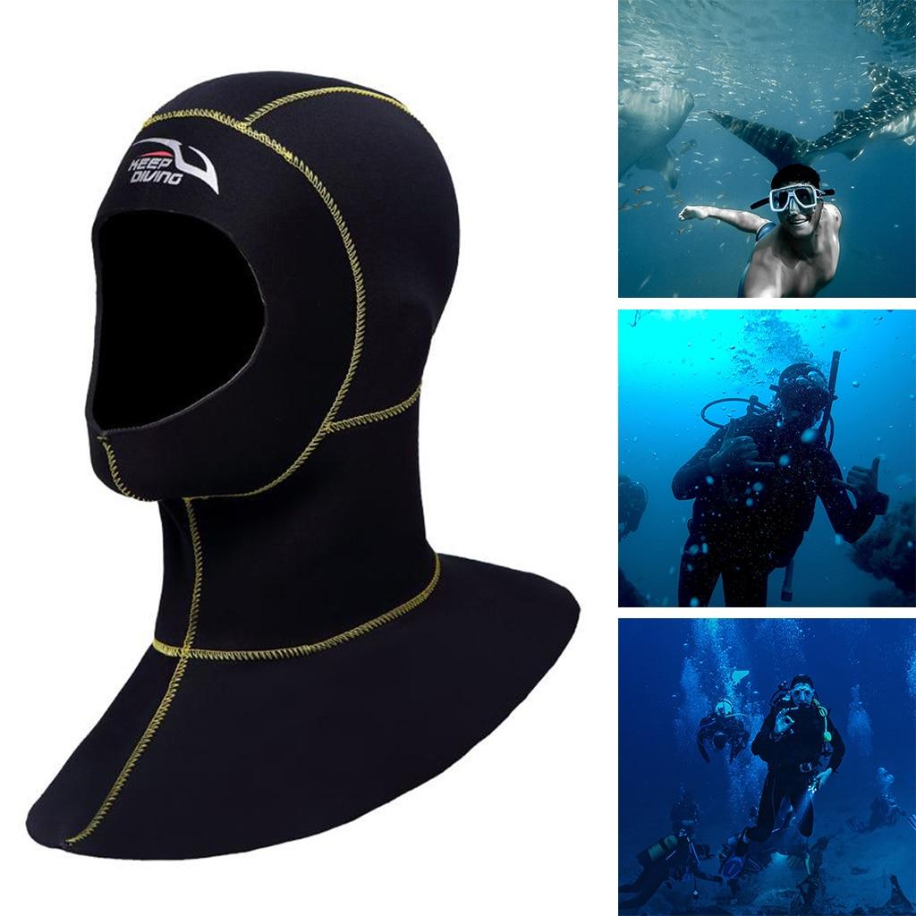 Термальный подводный гидрокостюм капюшон 3 мм Неопреновая шапка для серфинга каякинга подводная шапка