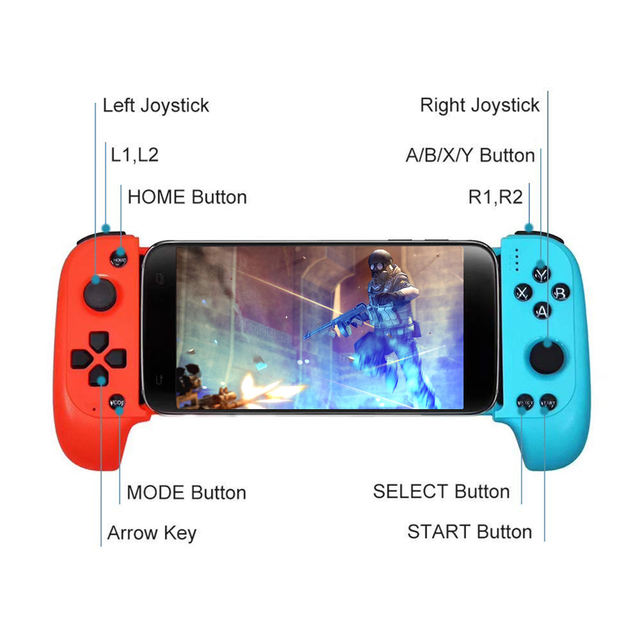 Wireless Android Gamepad wireless game controller bluetooth for mobile phone Tablet TV