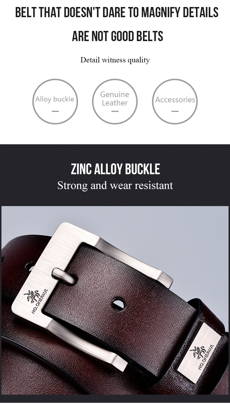 H7a47532f781a429b8073f09159545d85Y - NO.ONEPAUL cow genuine leather luxury strap male belts for men new fashion classice vintage pin buckle men belt High Quality