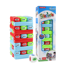 Children Educational Toys Large Colorful Block Layer Stacking Log Blocks Stacked High Jenga Leisure Toys Puzzle Board Game