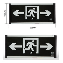 Rechargeable LED Double Way Arrow Security Exit Indicator Light Corridor Fire Safety Signs Channel Security Traffic Sign