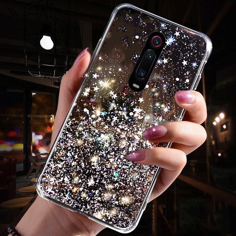 LOVECOM Gradient Bling Glitter Phone Case For Redmi K20 7 Note 7 8 Pro Note 6 Xiaomi 8 Explore 8 Lite 8 9SE Soft Back Cover 2