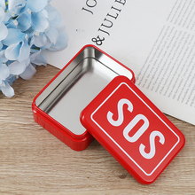 Storage-Boxes Pill-Box Medicine First-Aid Candy Emergency-Case Small Sos-Tin-Plate Party