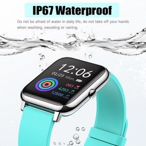 Image 2 - P22 Đồng Hồ Thông Minh Nam Nữ Thể Thao Đồng Hồ Theo Dõi Nhịp Tim Theo Dõi Giấc Ngủ IP67 Đồng Hồ Thông Minh Smartwatch Cho Oppo Android IOS