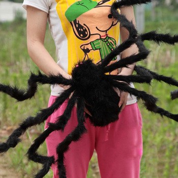 Furry Simulation Spider Toy Horrible Decoration For Halloween Haunted House Fool's Day YJS Dropship 3d clone shape pin art toy sculpture creative changeable pinscreen needle mold for children adult yjs dropship