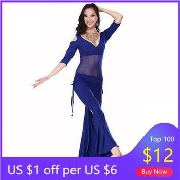 Hot Sale  New Haft-sleeved  V-neck belly dance set  Milk Silk Belly Dance Costumes women for dancer's clothing Top&Pants haft 214310 120