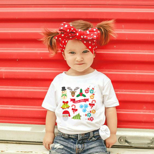 Joyeux Noel and Bonne Annee Christmas BFF Tshirts O-neck Casual T-shirt Boys Girls Cute Print Tshirt Toddler Babe Fashion Wear