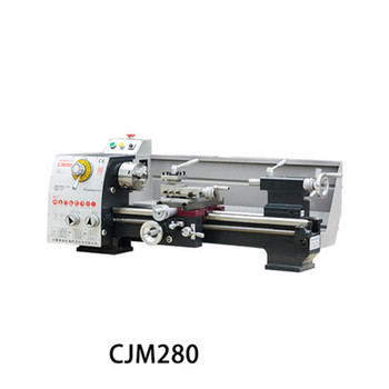 CJM280 Bench Lathe Industrial Machine Tool Small Bench Lathe Household Metal Machine Tool Machining Center High precision Lathe led machine light small machine working lamps metal hose freely bend lamps 12v 24v 220v high brightness for machining center
