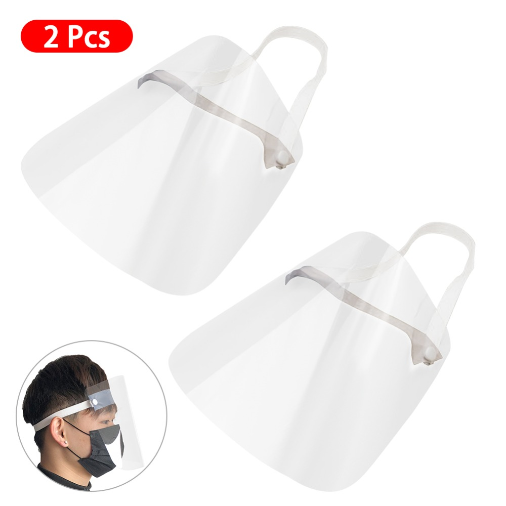 4/10PCS Clear Face Cover with Double-Sided Film and Adjustable Headband to Protect Full Face 3