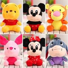 цена на 18-20 CM Disney Mickey Mouse Minnie Plush Toys Doll Stuffed Animals Stitch Tiger Vigny Bear Children Christmas Gifts