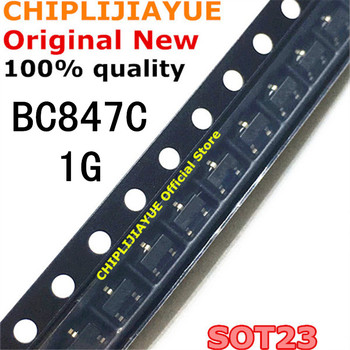 100PCS BC847C SOT23 BC847 847C SOT SMD SOT-23 1G transistor New and Original IC Chipset 100pcs bat54s sot 23 bat54 kl4 sot23 smd new and original