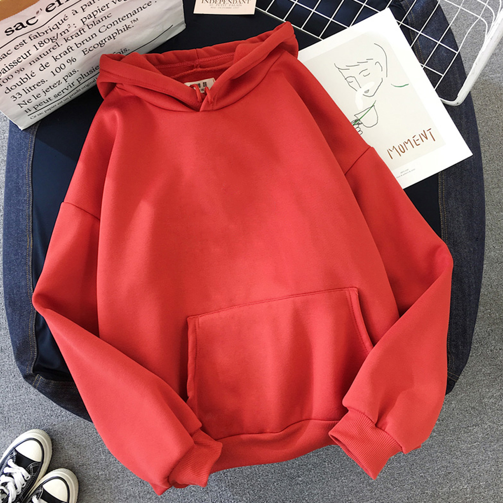 oversized clothes Sweatshirts Women Pink Women's Hoodies Warm Ladies Long Sleeve Casual Hooded Pullover Clothes Sweatshirt 7
